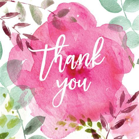 Tickled Pink   Thank You Card Template (Free)   Greetings