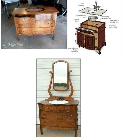 convert dresser into vanity convert an old dresser into a bathroom vanity great