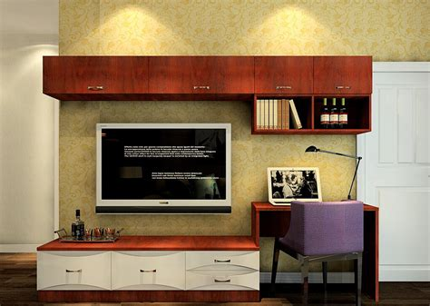 3d Tv Cabinet Combination In Small Living Room Download Tv Stand Computer Desk Combo