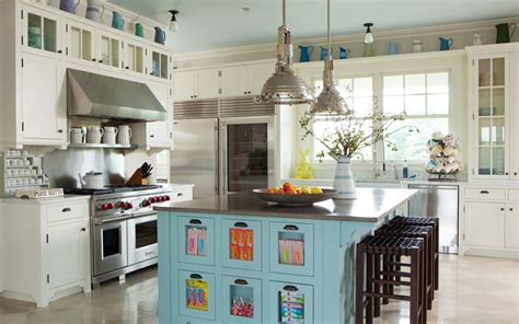 Turquoise Kitchen Island by Turquoise Kitchen Accents Cottage Kitchen Wick Design