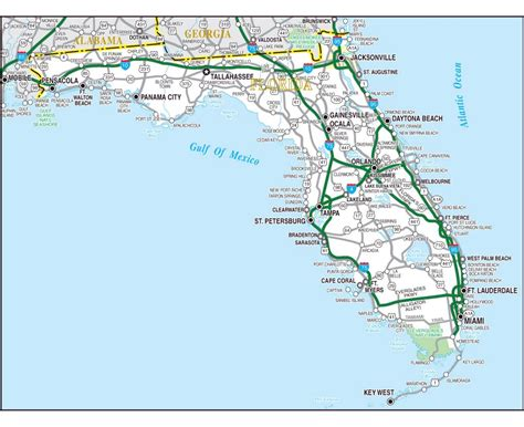 map usa florida state maps of florida state collection of detailed maps of