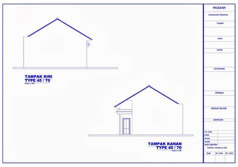 format dwg adalah contoh gambar kerja rumah minimalis