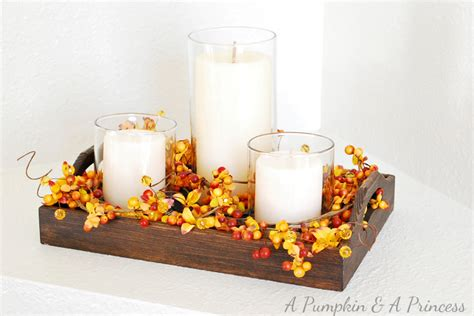 candle centerpieces for home fall candle centerpiece