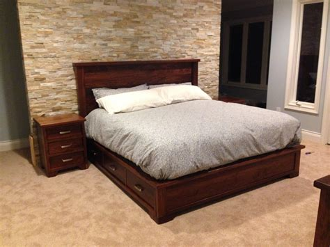 Walnut Bedroom Furniture Crafted Walnut Bedroom Set By The Plane Edge Llc Custommade