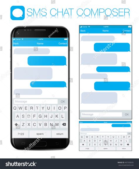 format your phone smart phone chatting sms template bubbles stock vector
