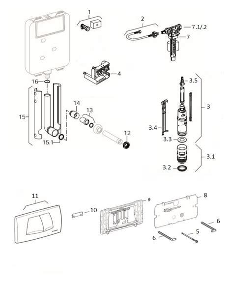 manutenzione cassetta geberit geberit tubo di risciacquo per cassetta ad incasso dal