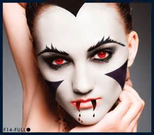 white vampire stencil airbrush makeup face template