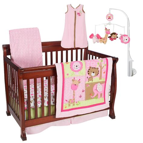 just born sassy safari 6 crib bedding set
