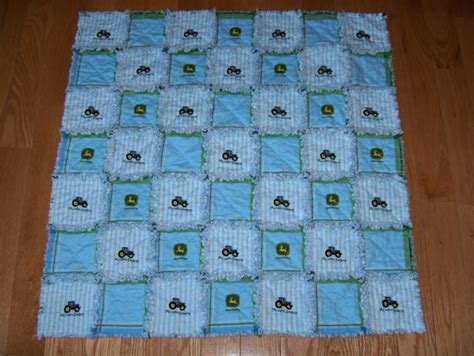Baby Boy Quilt Fabric by Blue Baby Boy Blanket Deere Fabric Rag Quilt Tractor