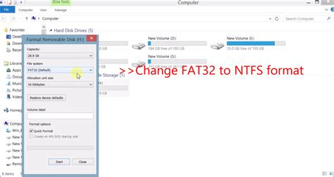 format hard disk to fat32 format hdd fat32 windows 8 tech world blog