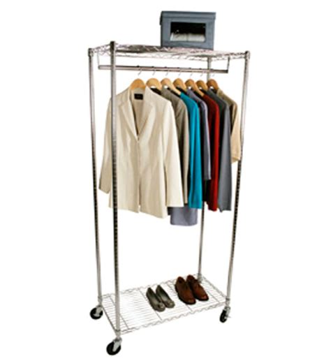 Wardrobe Rolling Rack by Rolling Wardrobe Closet And Canvas Cover In Clothing Racks