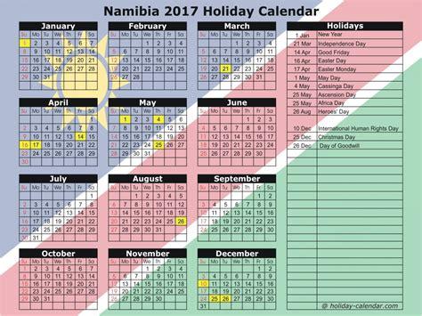 Namibia Calend 2018 Namibia 2017 2018 Calendar
