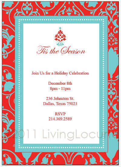christmas party printable invitation templates free