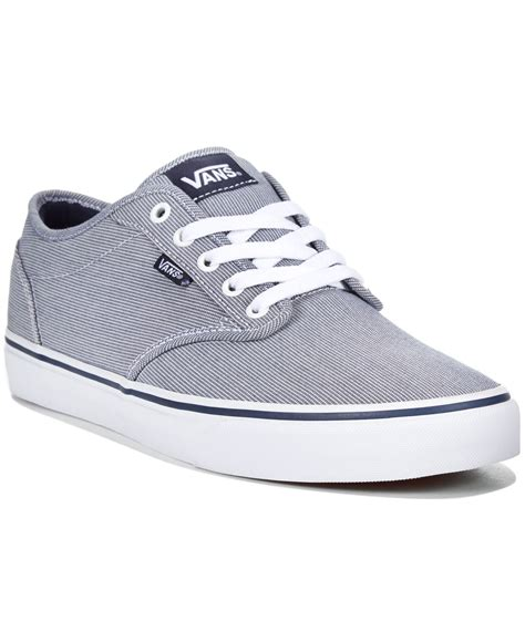 vans sneakers mens vans s atwood textile sneakers in blue for lyst