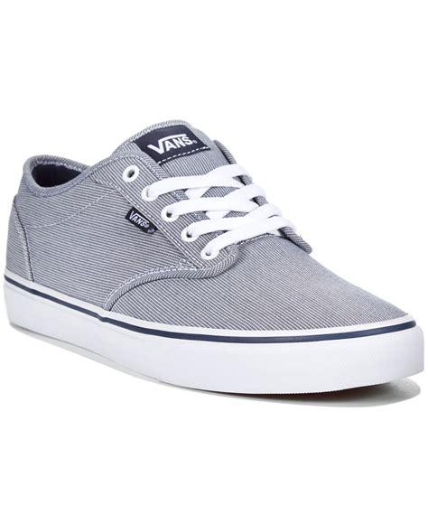 vans mens sneakers lyst vans s atwood textile sneakers in blue for