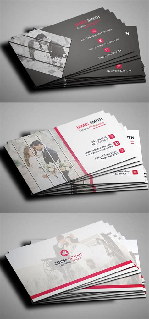 photographer business card template psd creative photography business cards design graphic