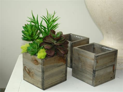 Wooden Box Vases by Wood Box Wood Boxes Square Wood Vase Succulents Wedding Flower