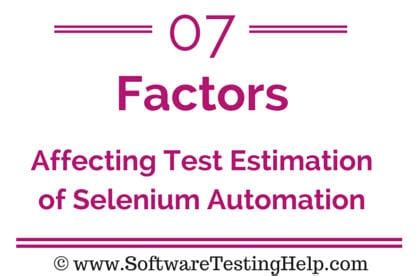 7 Factors Affecting Test Estimation Of Selenium Automation Project Selenium Tutorial 32 Selenium Automation Estimation Template