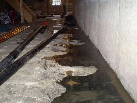 waterproofing a basement floor basement floor repair repairing leaking cracks in