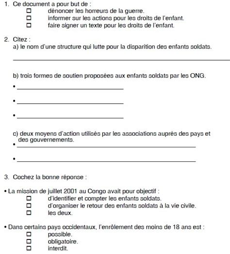 reading comprehension test in french reading comprehension in french quot une lueur d espoir