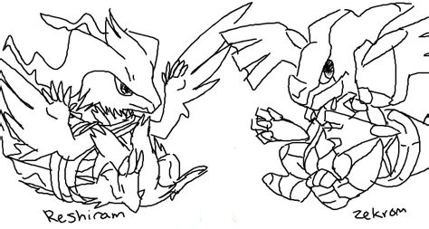 pokemon coloring pages of zekrom and reshiram espace membre gt cr 233 ation b 233 b 233 zecrom et reshiram