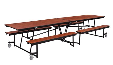 cafeteria bench national public seating mobile bench cafeteria table particleboard w t mold edge 12