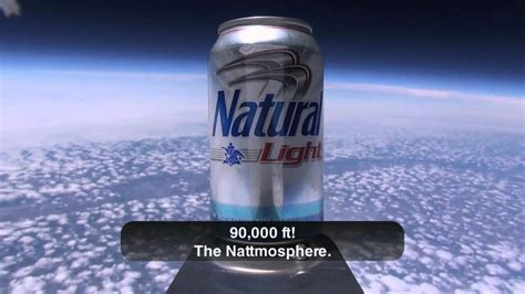 natural light natural light first beer in space youtube