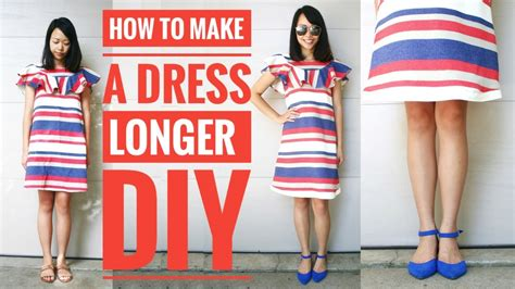 how to make a dress how to make a dress pattern diy how to make a short dress longer transform old