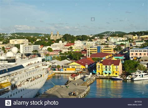 catamaran mystic antigua antigua st johns cruise port dock with moored ship and