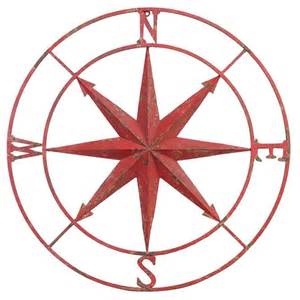 Compass Wall Decor by Large Metal Compass Wall Hanging Decoration