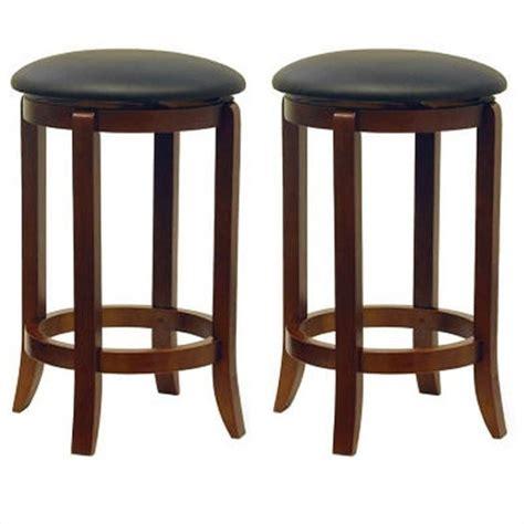 24 quot counter swivel bar stools in walnut set of 2 94624