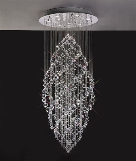 Dining Room Table With Benches by Gabor Floating Crystal Pendant Chandelier