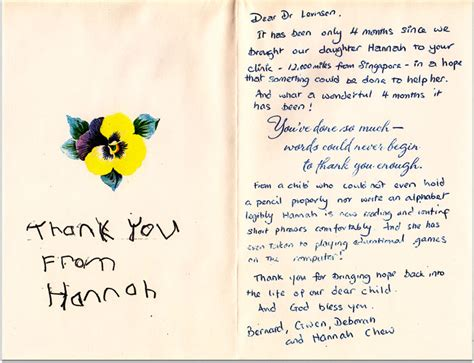 thank you letter to doctor after delivery levinson center for learning disabilities