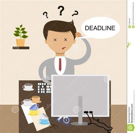 concept work workplace deadline concept cartoon vector cartoondealer