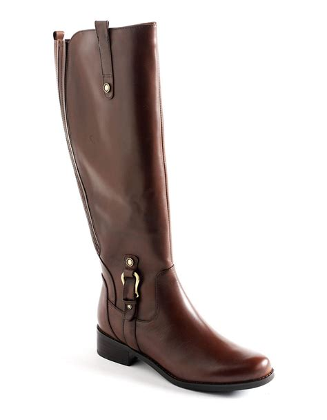 blondo boots womens blondo venise waterproof leather boots in brown lyst