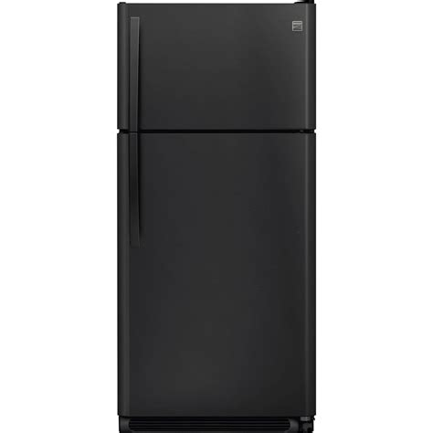 kenmore 18 cu ft top freezer refrigerator with glass
