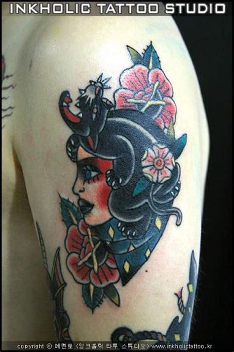 tattoo shoulder old school shoulder old school tattoo by inkholic tattoo