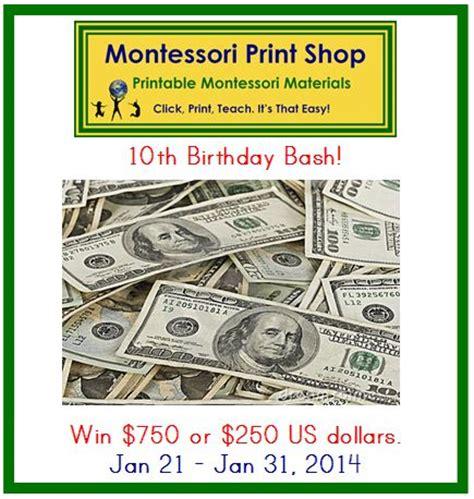 montessori printable shop montessori print shop s 10th birthday bash win a