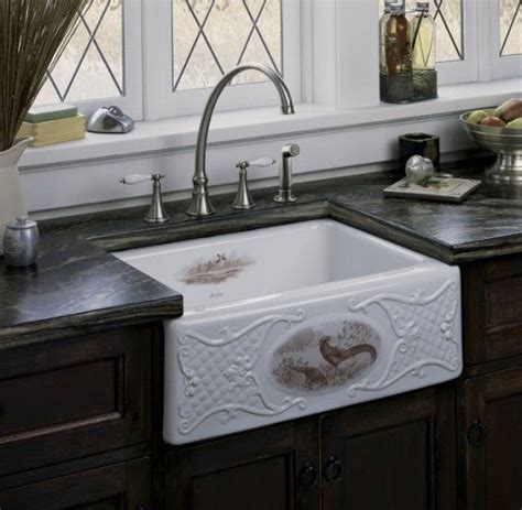 Country Kitchen Sink Farmhouse Pheasant Sink Decorating