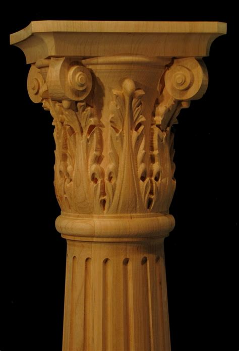 carved wood columns capitals  pilasters carved columns