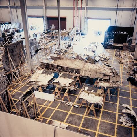 challenger disaster recovery photos sts 51 l recovered debris orbiter nasa free