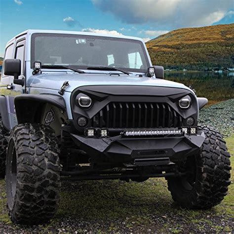 jeep rubicon matte black u max front matte black gladiator grid grill for jeep