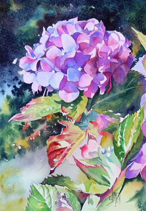 The Watercolour Flower Artist S Bible hortensia jo 235 l simon watercolor flowers coloring watercolour and flower