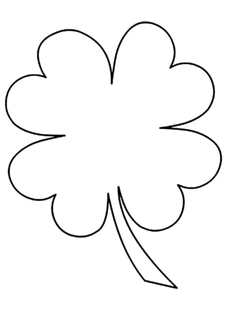 templates for pages 4 4 4 leaf clover printable clipart best