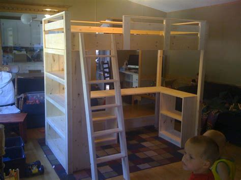How To Build A Loft Bunk Bed White S Loft Bed Diy Projects