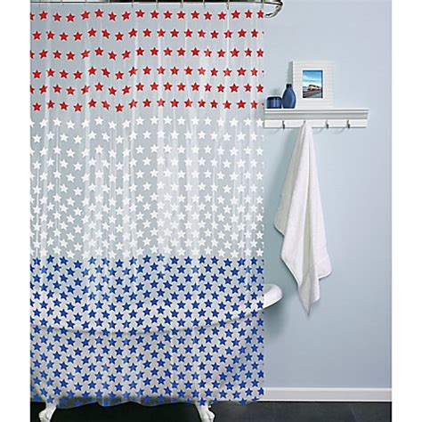 shower curtain with stars peva stars shower curtain bed bath beyond