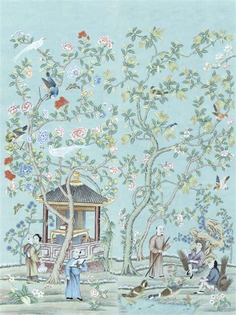 asian wall mural chinoiserie wall mural tea garden diptych asian wallpaper by muralsources