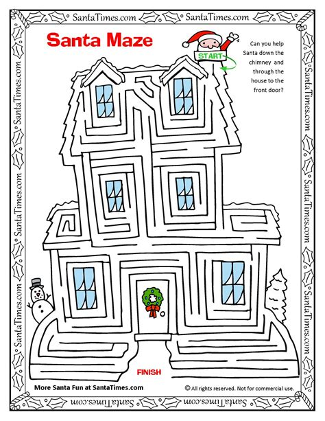 maze house santa claus house maze images frompo