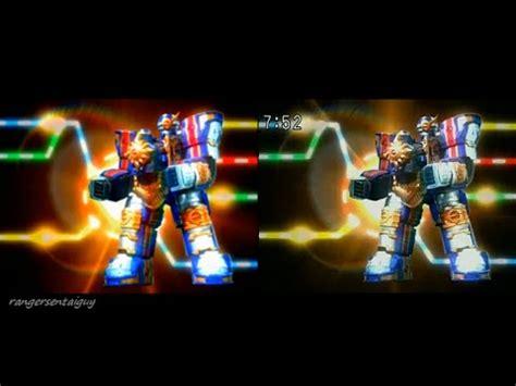 Power Rangers Mystic Solar Streak Megazord power rangers solar streak megazord appearance split screen pr and sentai version