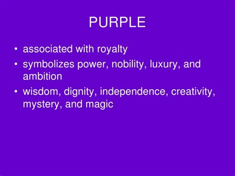 purple meaning of color meaning of color 1